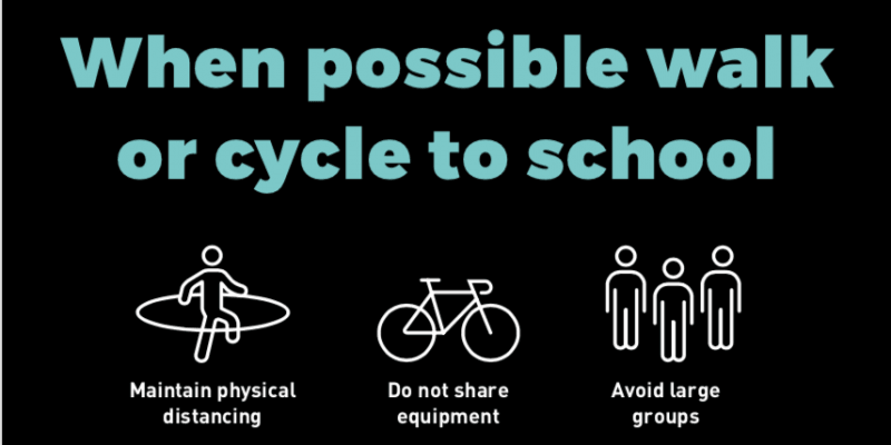 When possible walk or cycle to school