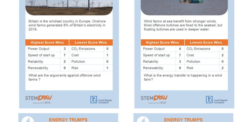 top trump revision game sustainability