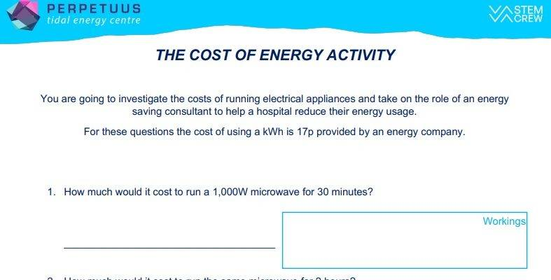The Cost of Energy Activity Thumbnail